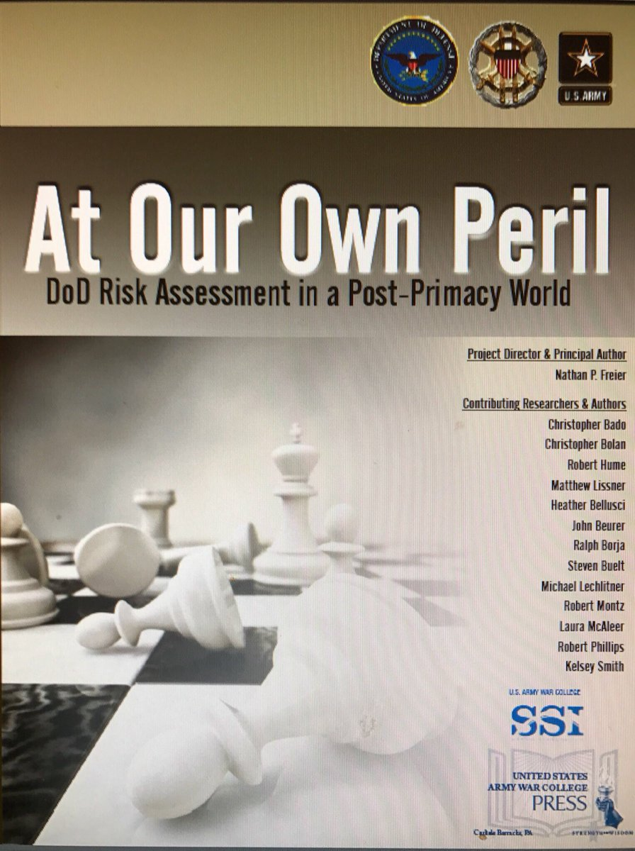 "Image result for DOD risk assessment ""At Our Own Peril"""