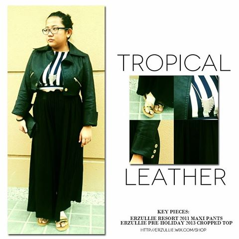 "PLUS SIZE STYLE: ""TROPICAL LEATHER"""