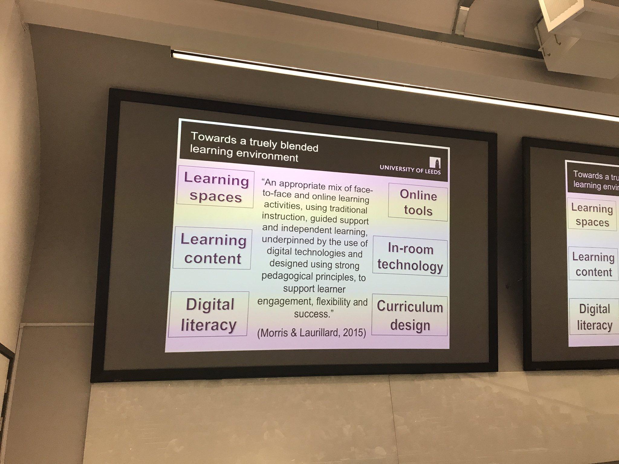 6 important things to consider if moving toward true blended learning @NeilMorrisLeeds #CUCEI17 https://t.co/KF7Ep4YSbz