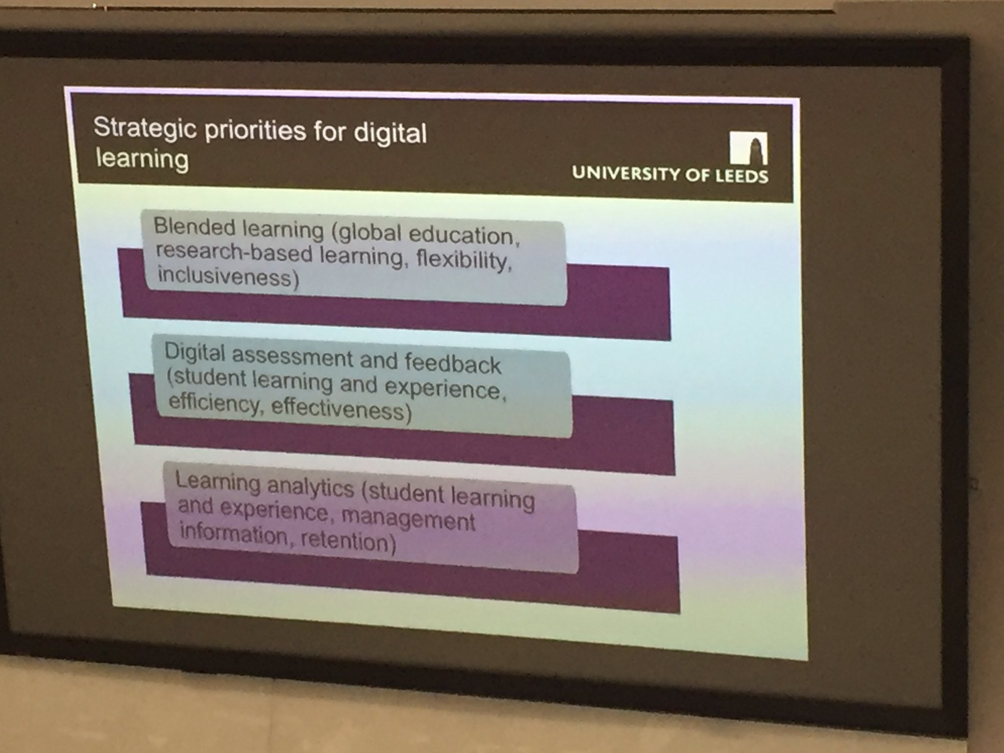 Strategic priorities for digital learning  #CUCEI17 https://t.co/tFtQkny0Xy