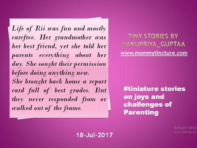 #Tiniature #tinystories @gayatri_gadre @blogchatter https://t.co/jQM4MlPjS1