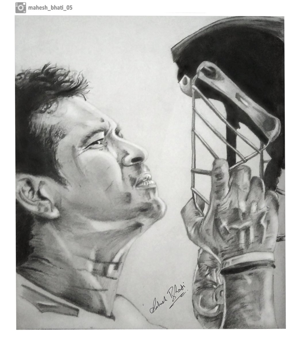 Mahesh bhati on twitter pencil sketching of god of cricket