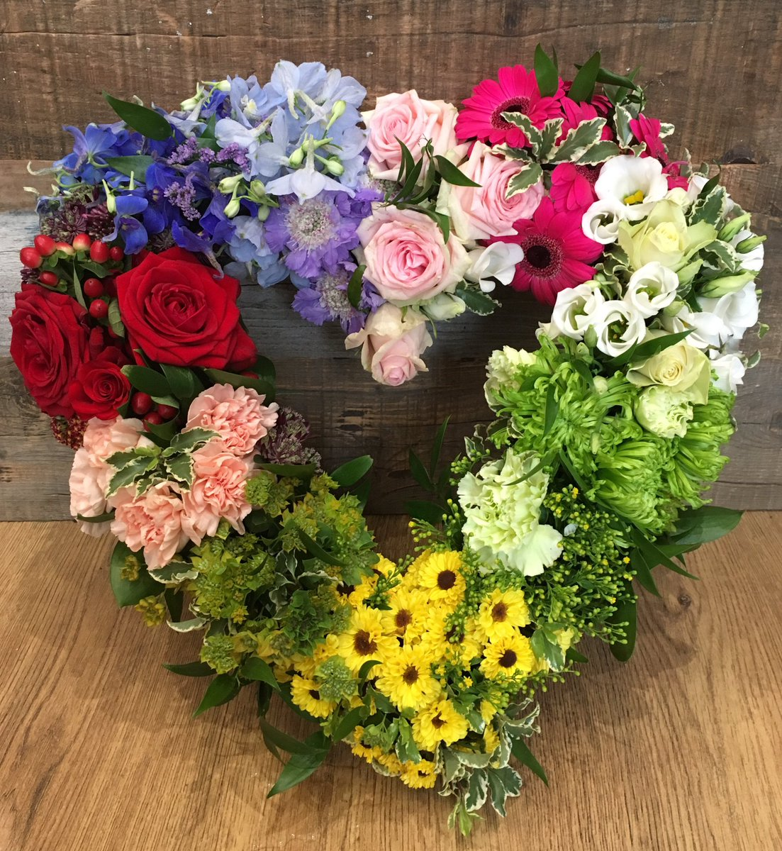 Blue Door Flowers On Twitter A Pretty Rainbow Heart To Say Goodbye