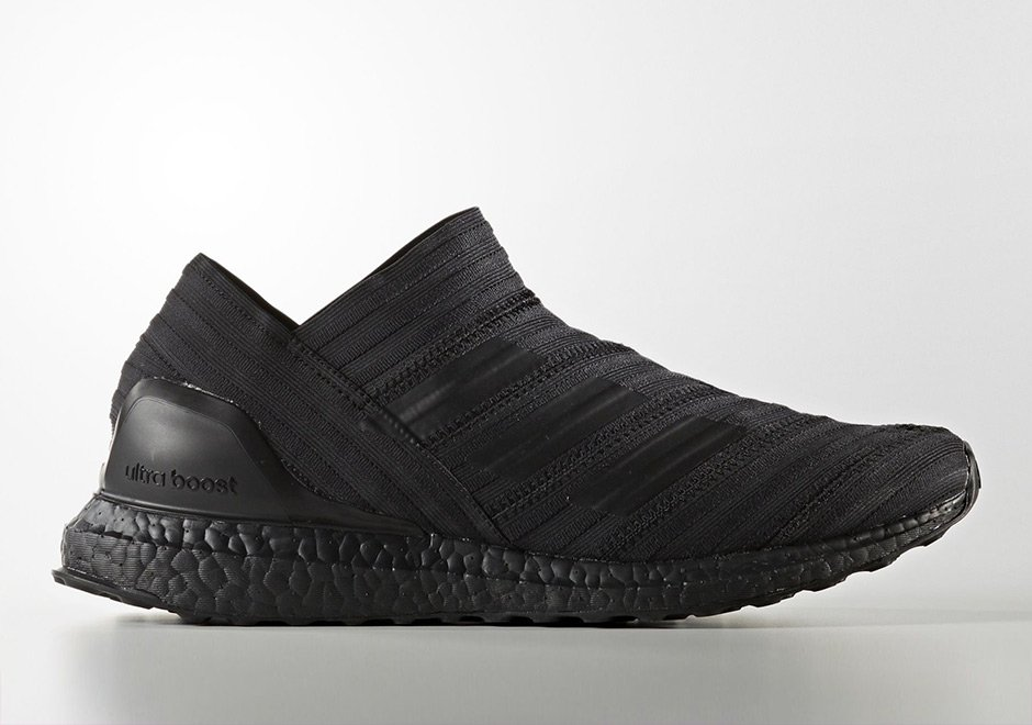 best service d2e0c 892da Official release info for the  Triple Black  adidas Nemeziz Tango 17+ Ultra  Boost ...