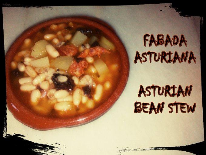 Fabada asturiana sin olla a presión / Asturian bean stew without pressure cooker