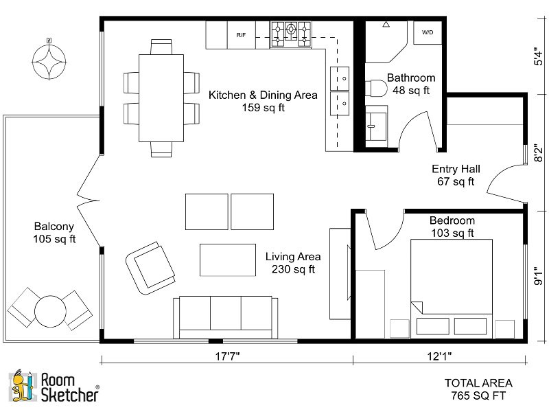 Roomsketcher roomsketcher twitter for Master bedroom with sitting room floor plans