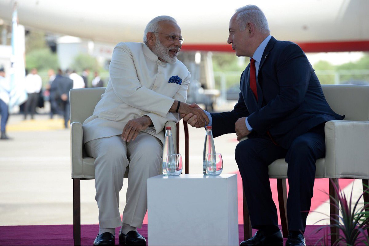 This is the first time an Indian prime minister is visiting Israel. We receive you with open arms, @narendramodi. We love India! 🇮🇳🇮🇱