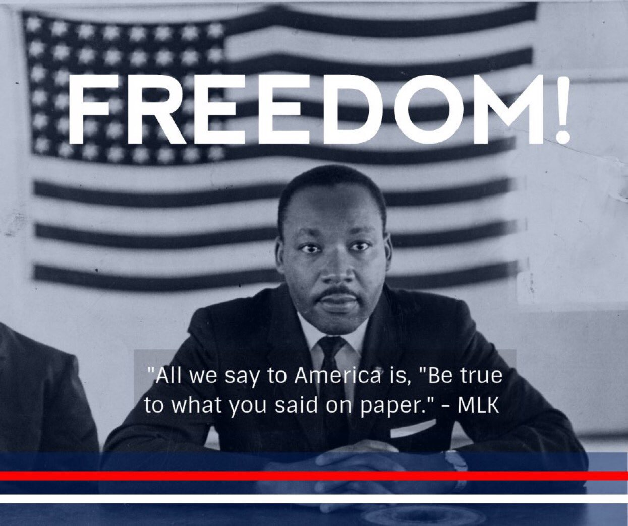 """""""All we say to #America is, 'Be true to what you said on paper.'"""" #MLK https://t.co/WS8sikDZOc"""