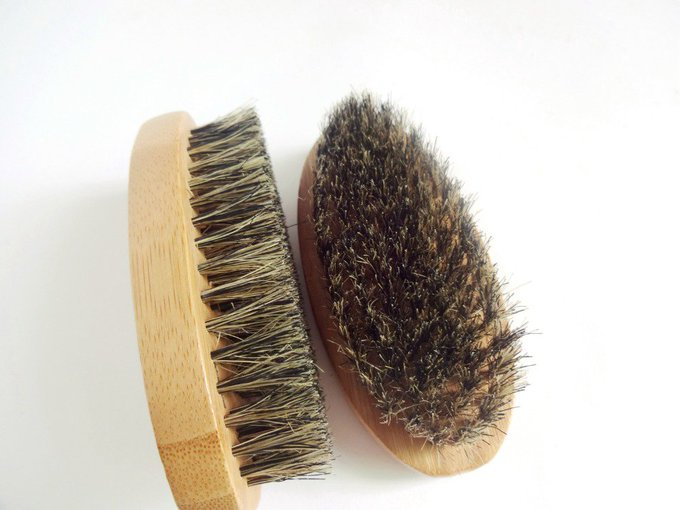 Beard Brush For Men Bamboo With 100% Boar Bristles Face Massage That Works Wonders To Comb Beards and Mustache Free Shipping