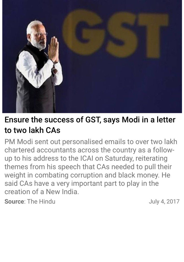 Smriti z irani on twitter ensure the success of gst says modi in httpthehindunewsnationalensure the success of gst says modi in a letter to two lakh casarticle19210037e via nmapppicitter spiritdancerdesigns Gallery
