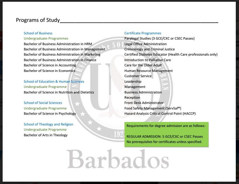 USC Barbados (@USC_Barbados) | Twitter