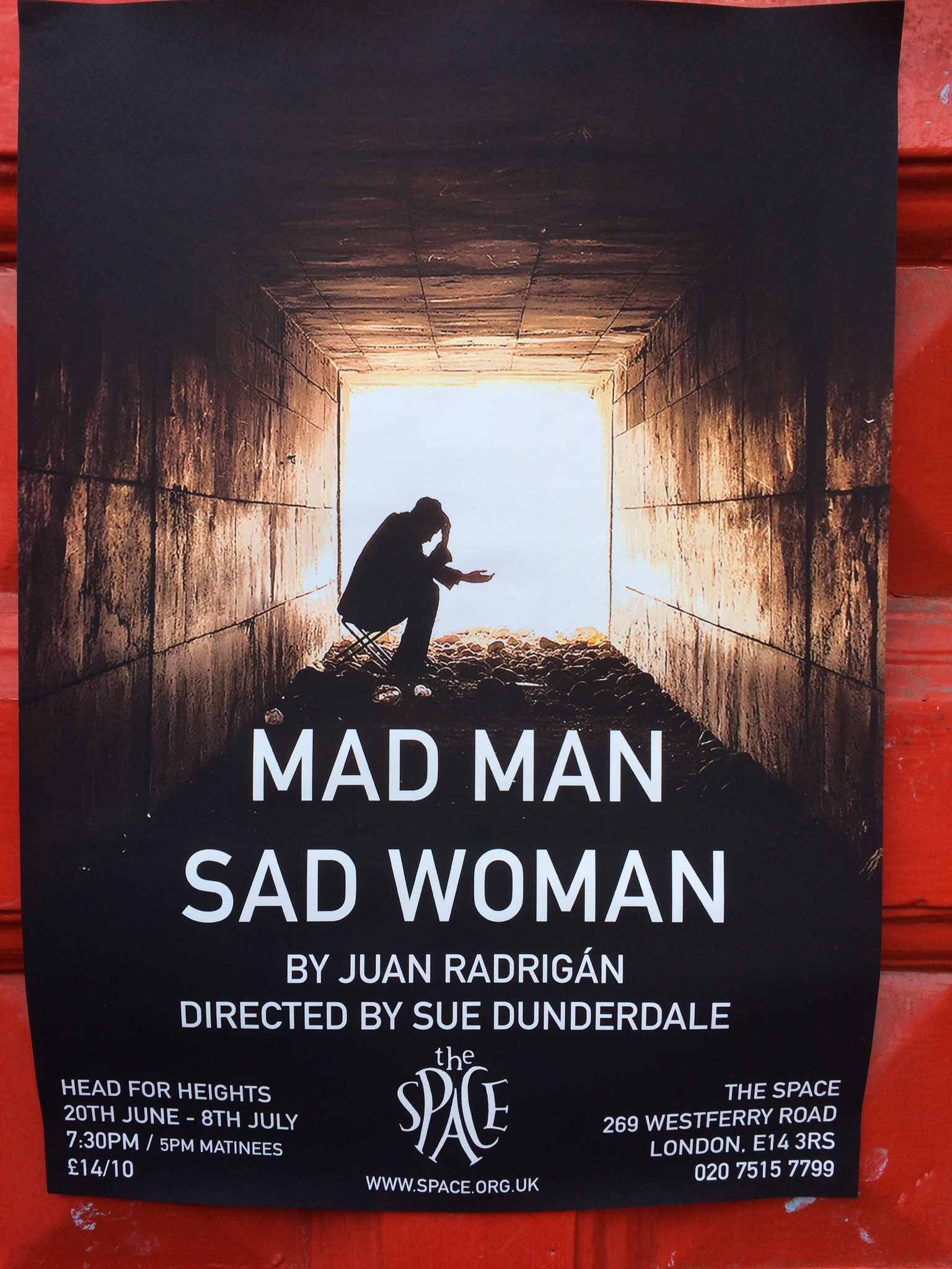 Looking forward to tonight's performance of #MadManSadWoman @spaceartscentre directed by Sue Dunderdale https://t.co/l4eGRAHbUV