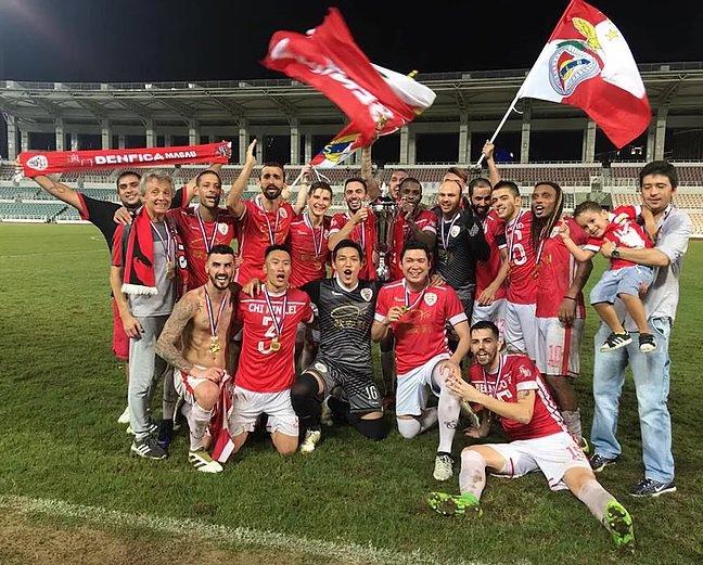 O Benfica de Macau sagrou-se Tetracampeão, ao vencer o Sporting de Macau por 7-1. #SejaOndeFor