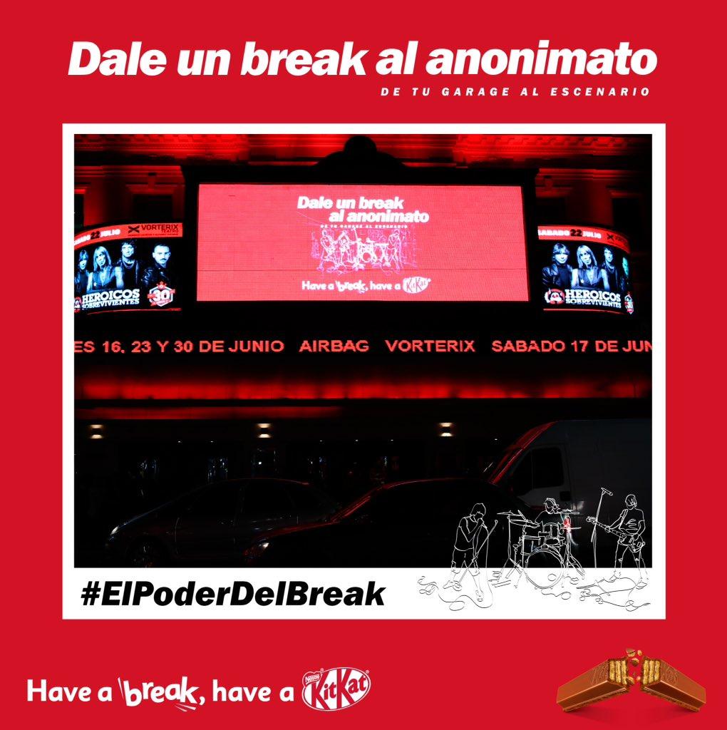 """Imágenes del Recital donde la banda Enero, ganadora de """"Dale un break al anonimato"""", tocó delante de 1500 personas. #ElPoderDelBreak #KitKat https://t.co/OUA1O8DDdG"""
