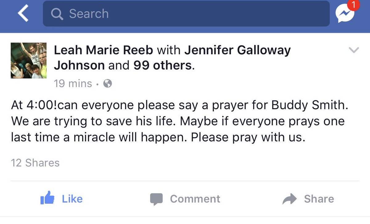 Please everyone take a few minutes and pray together for this miracle!