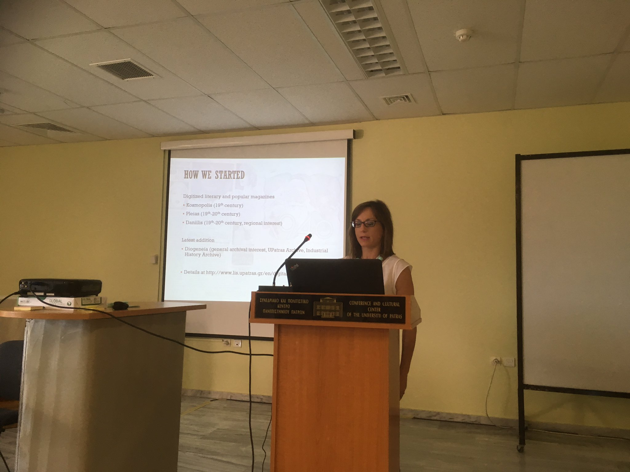 We're now hearing from Despoina Gkogkou from our hosts at University of Patras. Join her for the discussion on #skillbuilding #liber2017 https://t.co/agQDvS1TdG