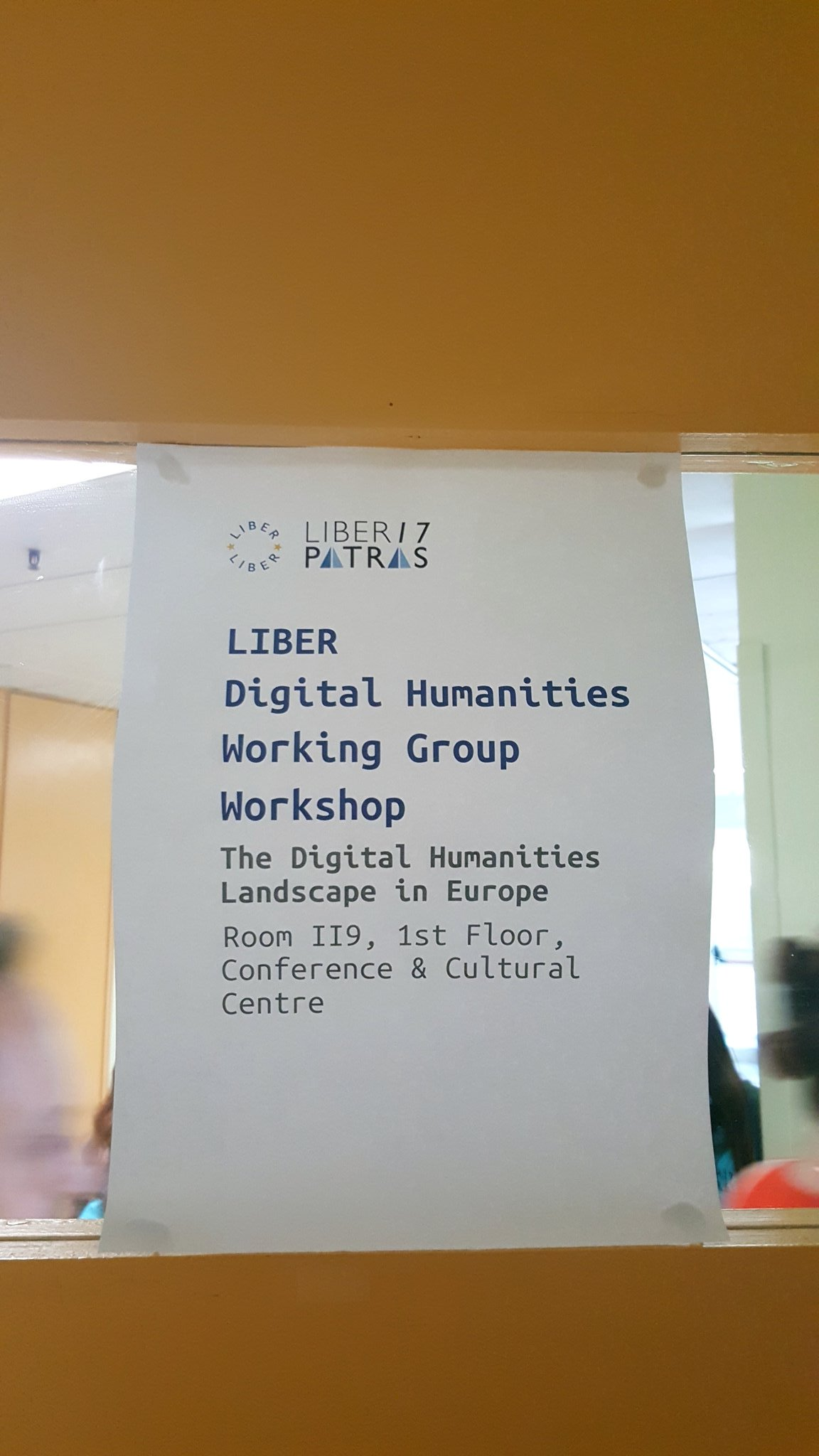 Waiting for the first meeting of the LIBER DH working group to start at #liber2017. Very excited to be here! https://t.co/7MoYIy6xnc