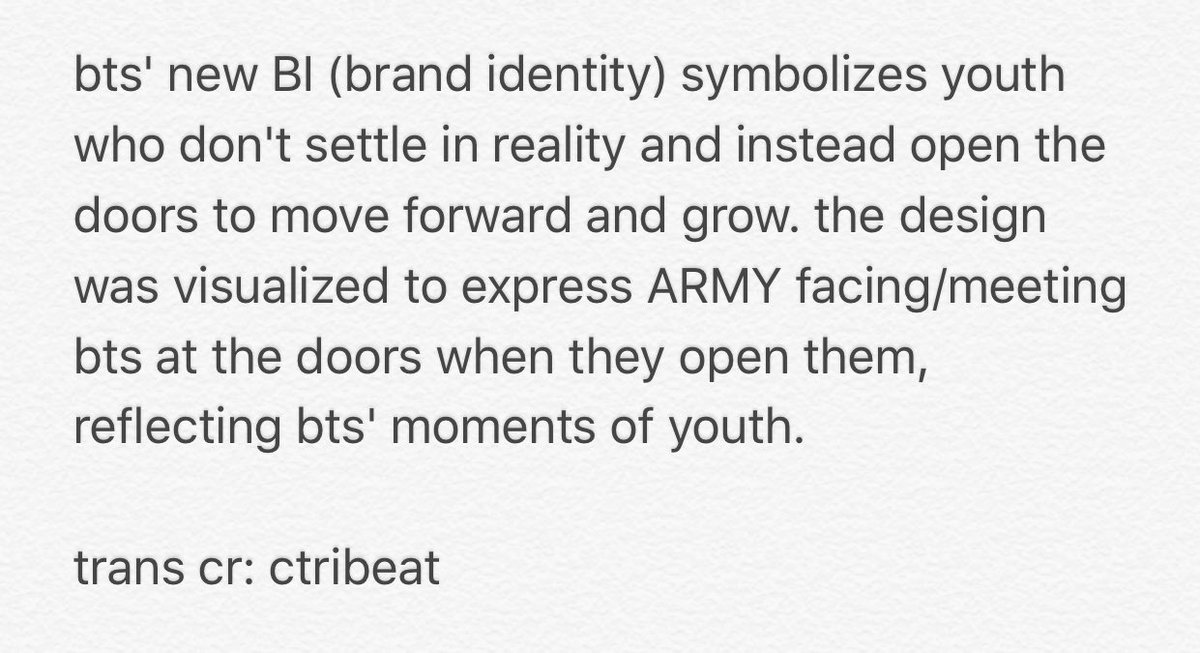 On Twitter Trans The Meaning Behind Bts New Brand