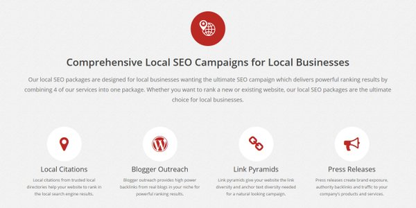 Our new #LocalSEO packages include #LocalCitations #BloggerOutreach #PressReleases &amp; more see  https:// linkredible.com/local-seo-pack ages/ &nbsp; …  …<br>http://pic.twitter.com/0e6k1j2eUU