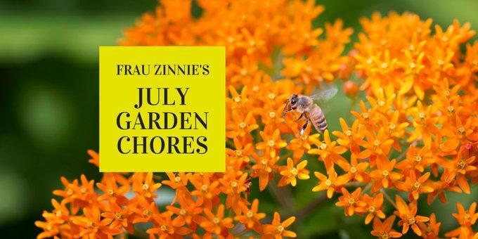 The Gardener's July Calendar ~ 2017