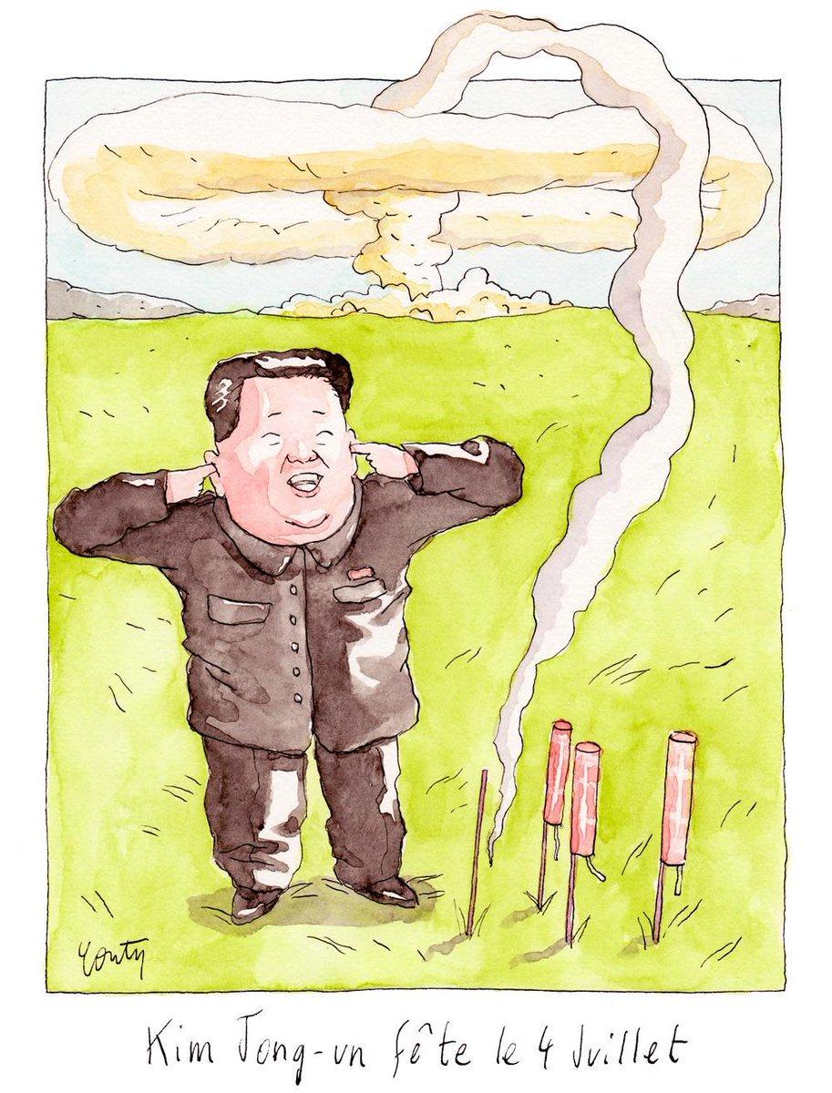 Kim Jong-un fête le 4 Juillet, dessin du jour par @juliencouty https://t.co/6lq9iK4rqu