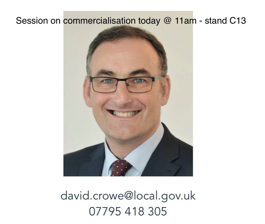 Join us at stand C13 - 11am today #LGAConf17 David Crowe will be talking #commercialisation