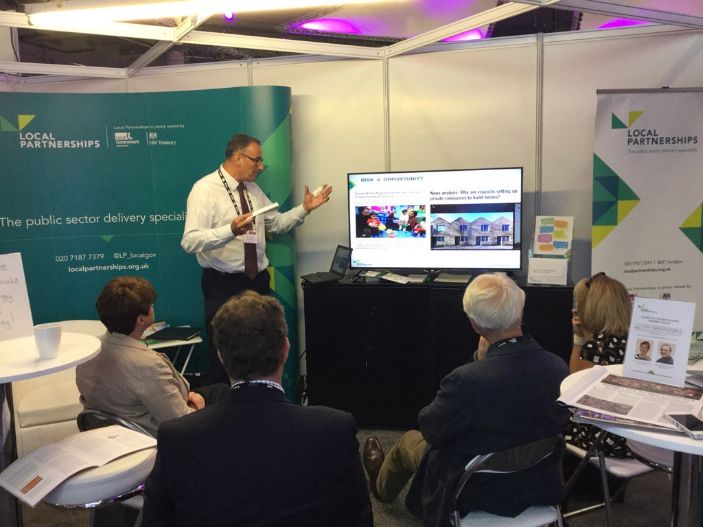 Great session on our stand C13 with David Crowe at #LGAconf17 on commercialising council services #localgov