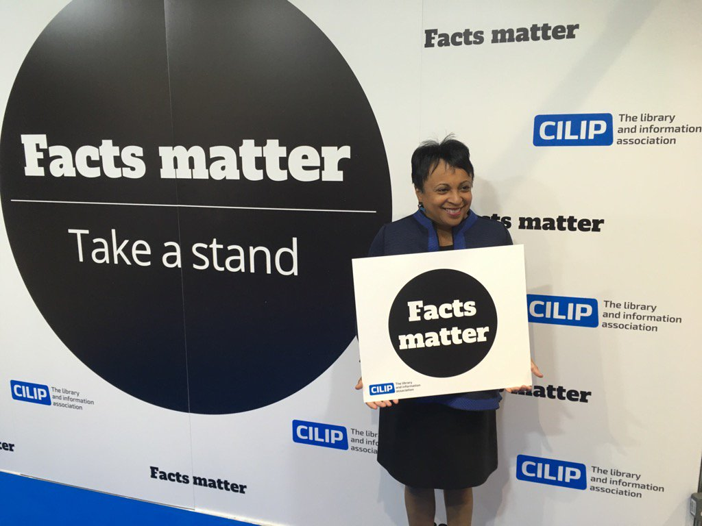 Probably the world's greatest librarian @LibnOfCongress stands up for #factsmatter with CILIP at #CILIPConf17 https://t.co/JxoMWimwe9
