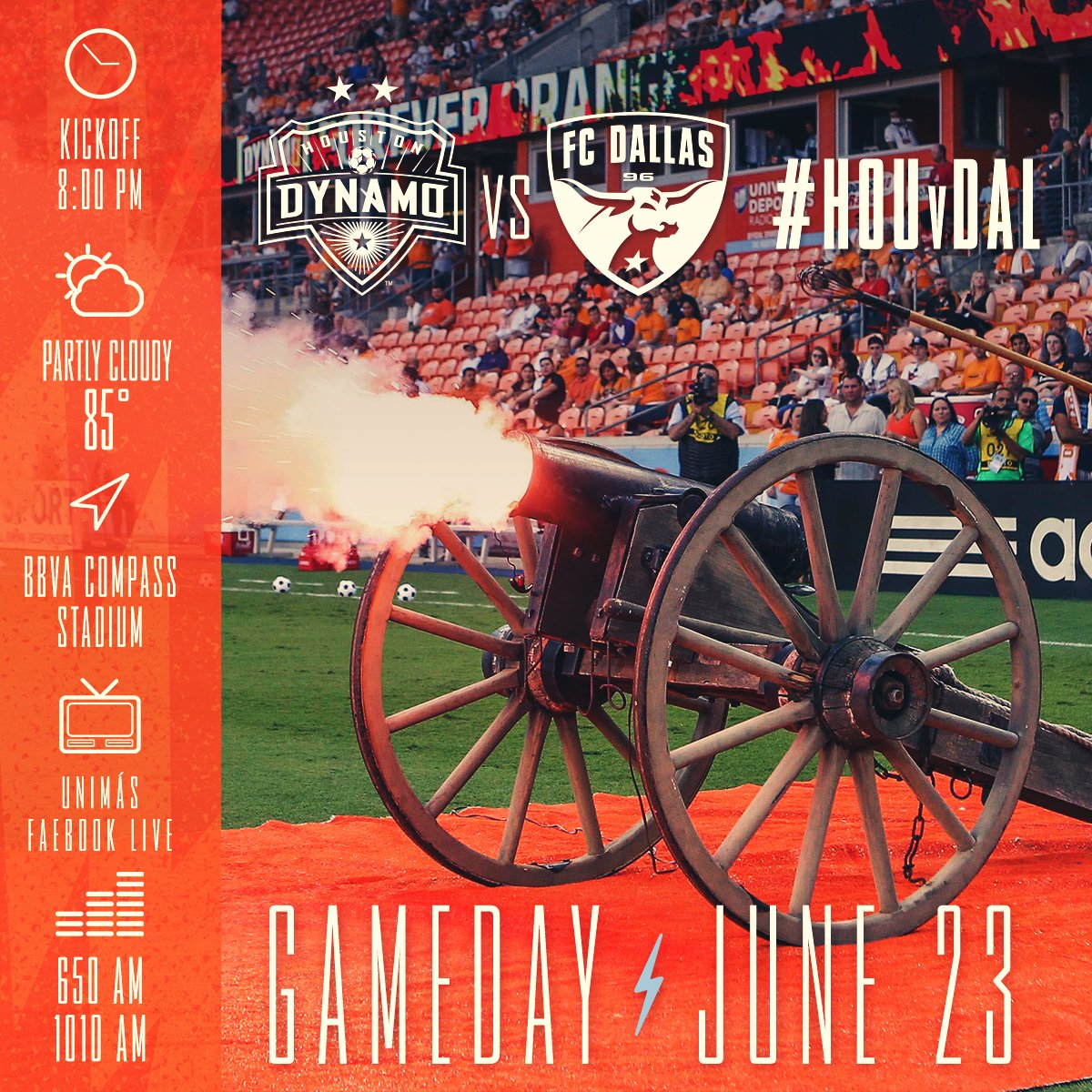 Houston 🆚 Dallas*. It's #TexasDerby gameday!  Limited tickets remain:...