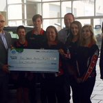$6000 donated by @seanbell07 & #CamClarkFordRD to our @RedDeerRoyals! Thanks for helping with #Drive4UR Community.