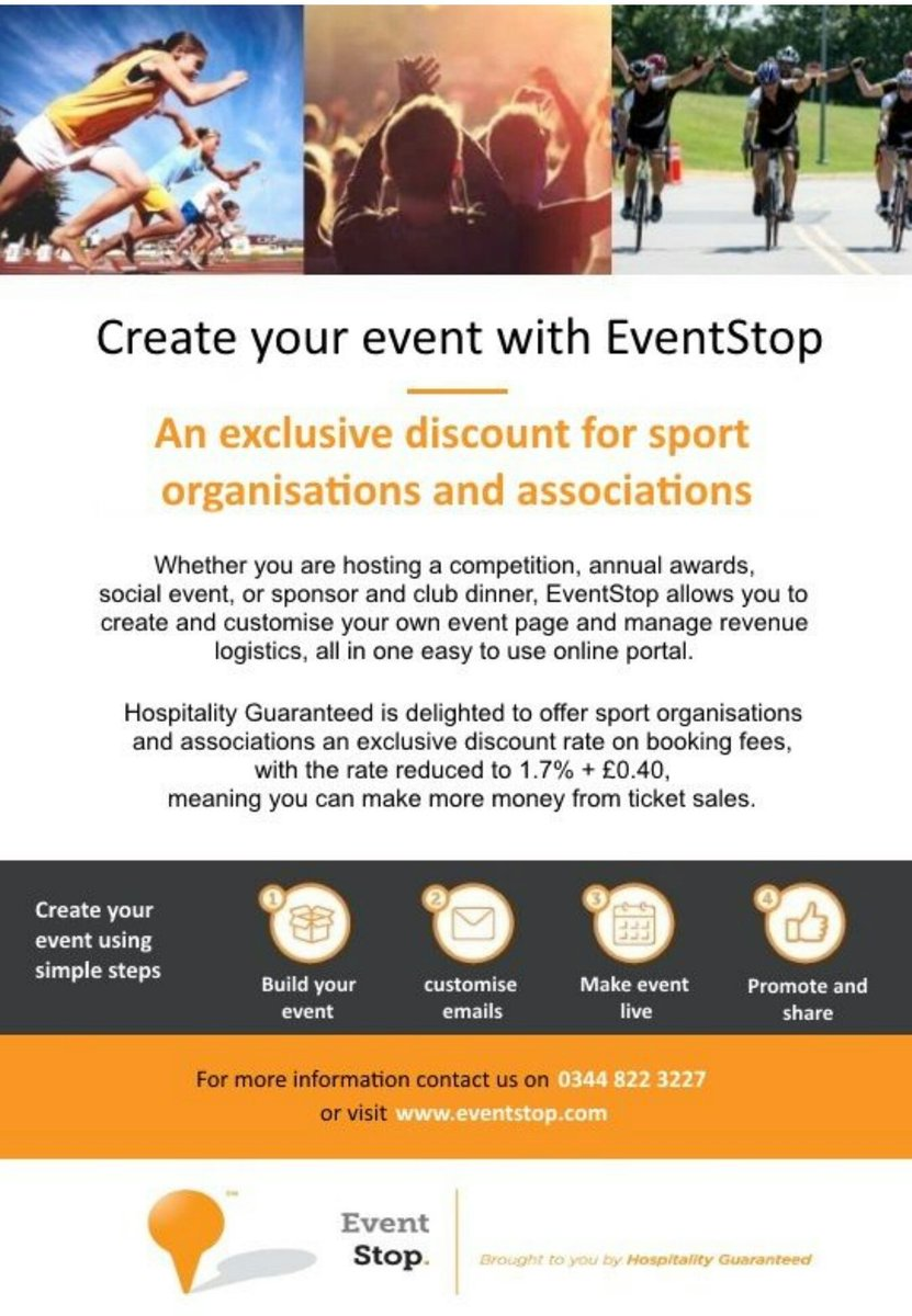 Create and customise your own #sporting event page and manage revenue and logistics in an easy online portal with   http://www. eventstop.com  &nbsp;  <br>http://pic.twitter.com/suI0shJA9Y