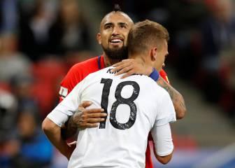La promesa que se hicieron Vidal y Kimmich tras el empate https://t.co...