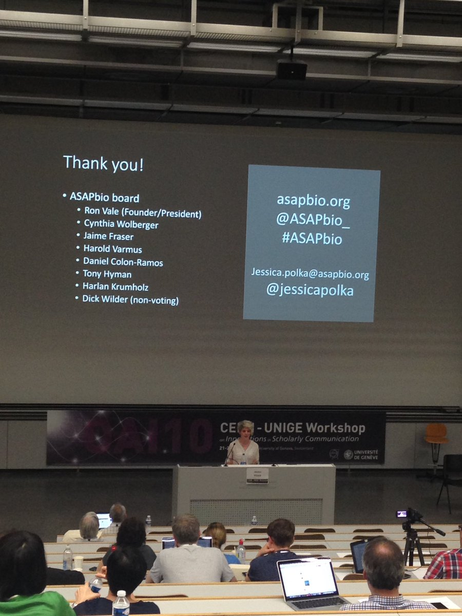 Accelerate science with preprints thx @jessicapolka #preprints #openscience #oai10<br>http://pic.twitter.com/6gCpumhtsS