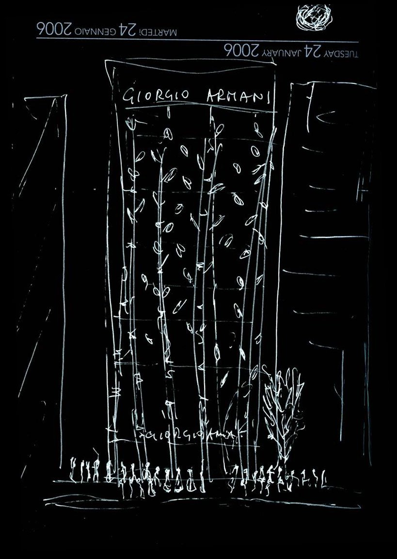 Sketch of the Armani Ginza Tower by #dorianafuksas Read more:  http://www. fuksas.it/en/Projects/Ar mani-Ginza-Tower-Tokyo &nbsp; …   #fuksas #fuksasarchitects #sketch #armani #tokyo<br>http://pic.twitter.com/tTLM8kLXsw