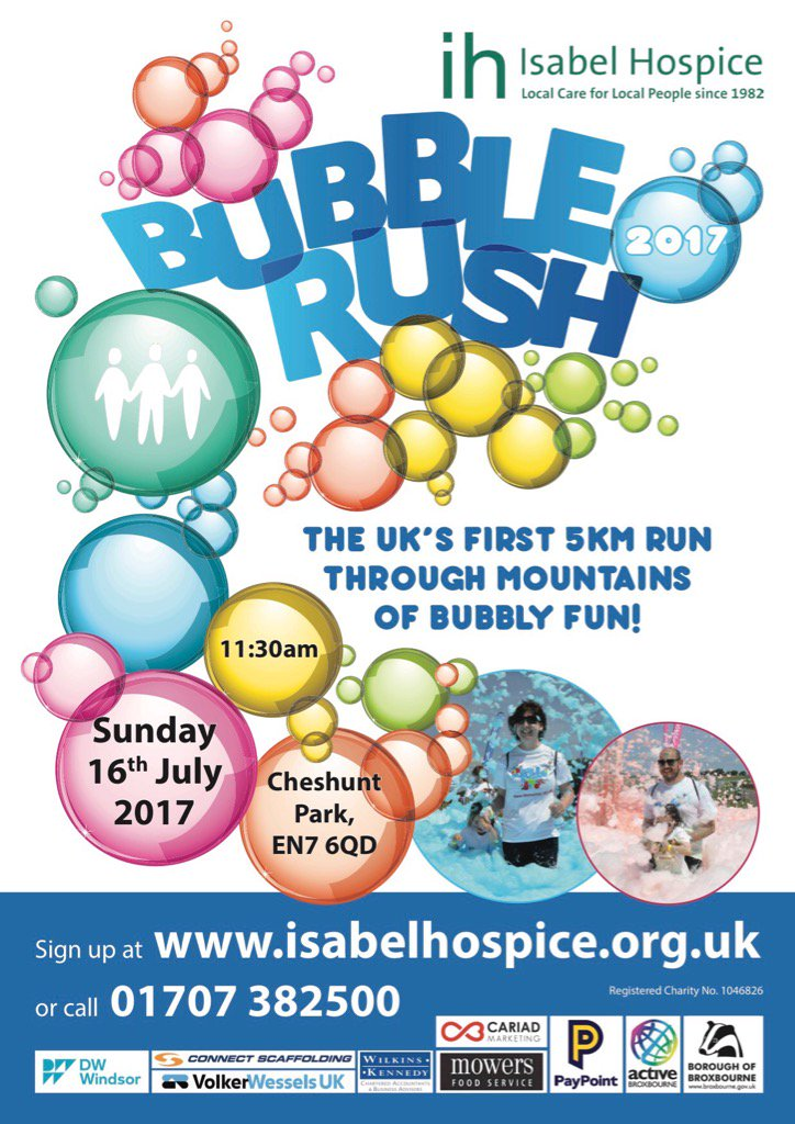 Our friends @IsabelHospice are back this year in cheshunt park. Join us if you can for this fun event #run #community<br>http://pic.twitter.com/yNIkxfHkSM
