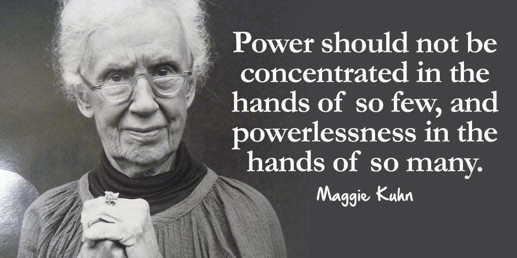 Power should not be concentrated in the hands of so few, and powerless...