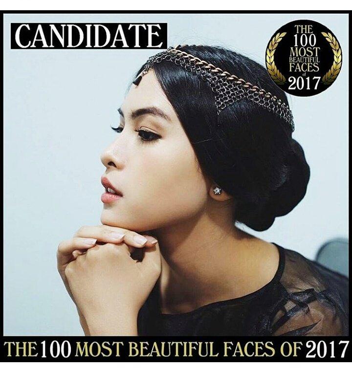 She is candidate of 100 most beautiful faces @tccandler  @maudears_  #maudears pic.twitter.com/69hVZHd15X