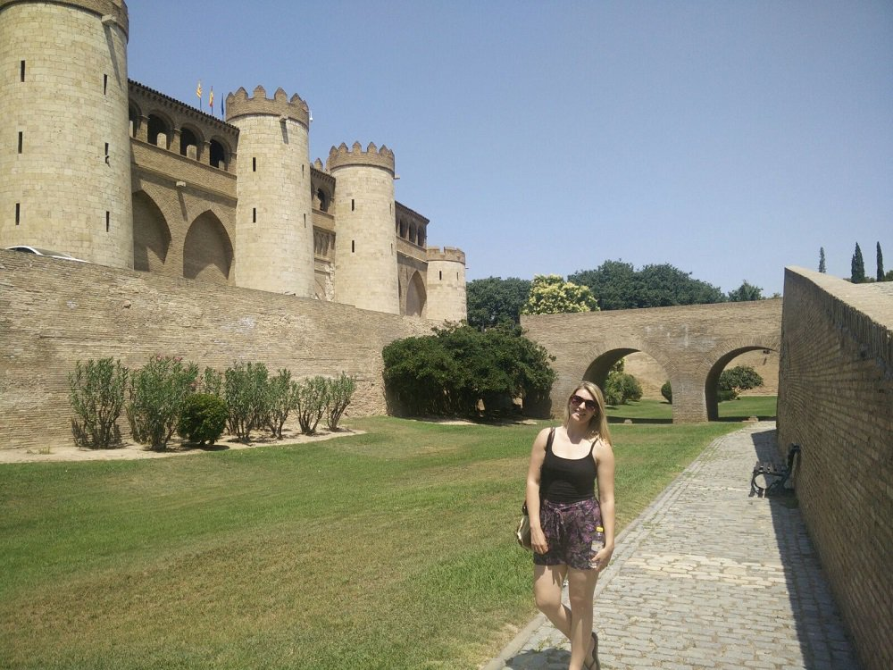 Continuing the blogtrip #SpainCities with @wandering_quinn at the #Aljaferia islamic and #mudejar palace of #Zaragoza #WorldHeritage<br>http://pic.twitter.com/LOzJTkigC1