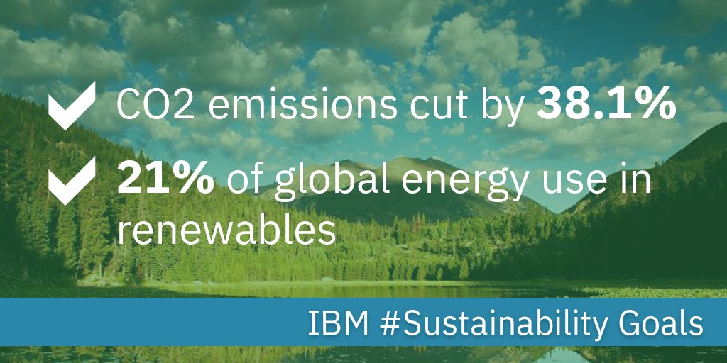 .@IBM cut CO2 emissions by 38.1%, meeting our 2020 climate protection goals 4yrs early #sustainability #WeAreStillIn  http:// ibm.biz/BdiQJd  &nbsp;  <br>http://pic.twitter.com/SGjtrumJ3Y