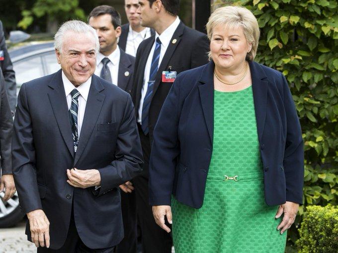 Noruega: Primeira-ministra cobra 'solução' para corrupção no Brasil; Temer comete gafe e confunde país com Suécia https://t.co/yoIZqxXE1g