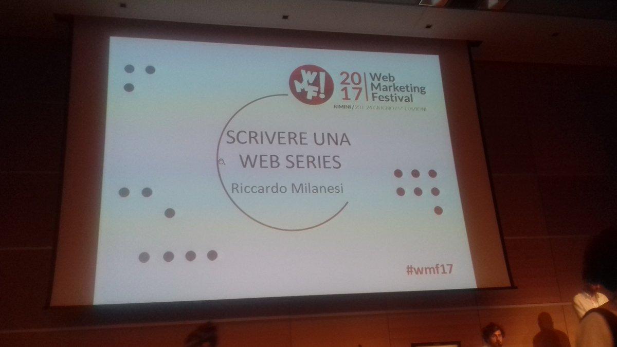 Inspiring sessions at #wmf17 @rickimilanesi @ScuolaHolden  #webseries  #a.r.g. #transmediastorytelling #crossmedia #storyworld<br>http://pic.twitter.com/JwCqwehdsH