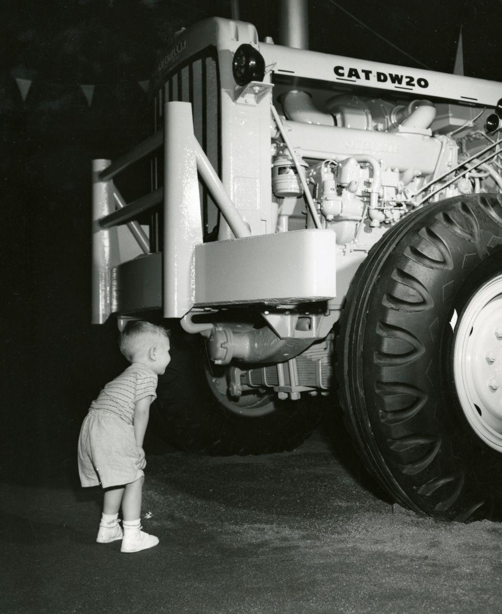 #FlashbackFriday to a young boy getting an up-close view of a Caterpil...
