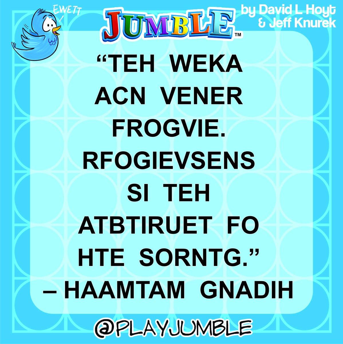 Play Jumble on Twitter: \