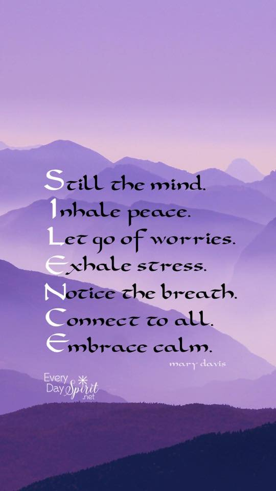 #Silence.  Just focus the mind. Breathe out the #negatives, and inhale the #positives.  #FridayFeeling #meditation<br>http://pic.twitter.com/1uH5I6885h