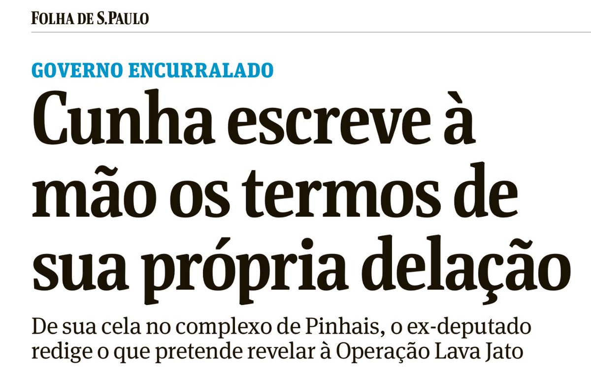 A delação de Eduardo Cunha finalmente parece que vai sair. Para não perder o costume o ex-deputado escreve a próprio punho as revelações 👀