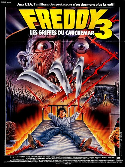Awesome Foreign Poster For &quot;Freddy 3&quot; #CoolMoviePosters #FreddyKrueger #MoviePosters<br>http://pic.twitter.com/x42cKmlpOY