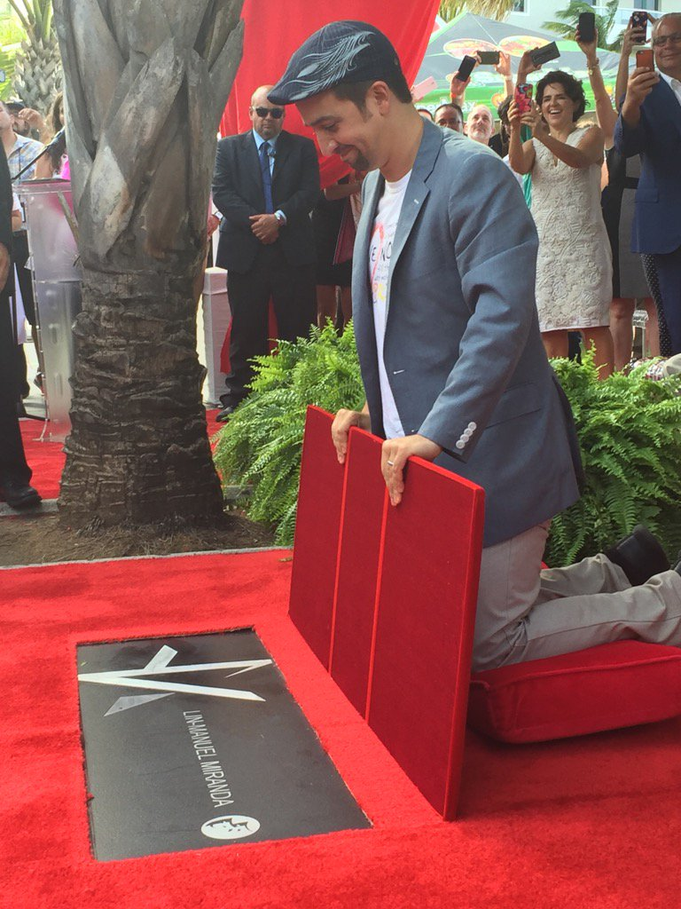 This is @Lin_Manuel first star celebration in Condado, PR Walk of Fame; now, Hollywood!