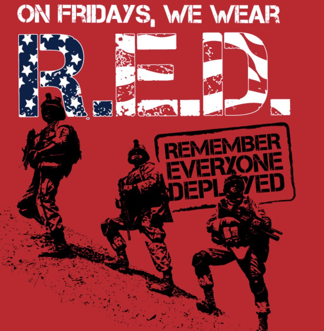 #RedFriday  We appreciate your service, and sacrifice, every single day ❤️🇺🇸 ❤️🇺🇸#SupportOurTroops