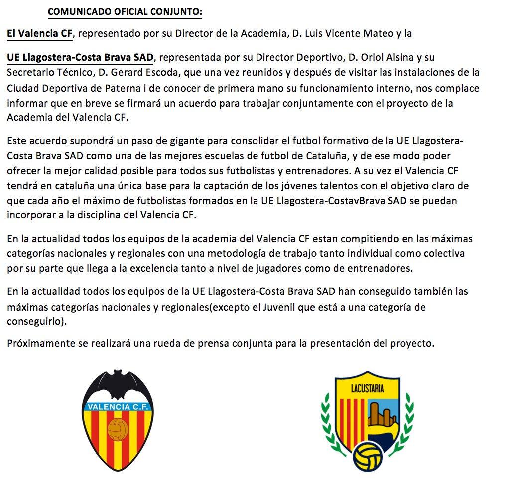 Valencia CF Llagostera