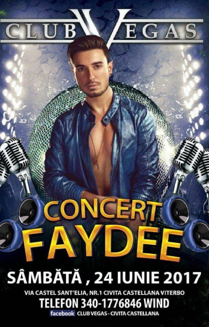 Big @Faydee show in Rome on 24th June in Civita Castellana at Club Vegas, make sure to come  #Faydee #show #concerto #Roma #RomaShow<br>http://pic.twitter.com/rrJ5pjNaz4